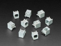 [로봇사이언스몰][Adafruit][에이다프루트] RJ12 Jack Connectors - EV3/NXT LEGO Compatible - Pack of 10 ID:4434